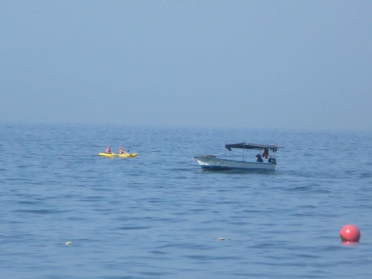 bateau de pêche et kayak