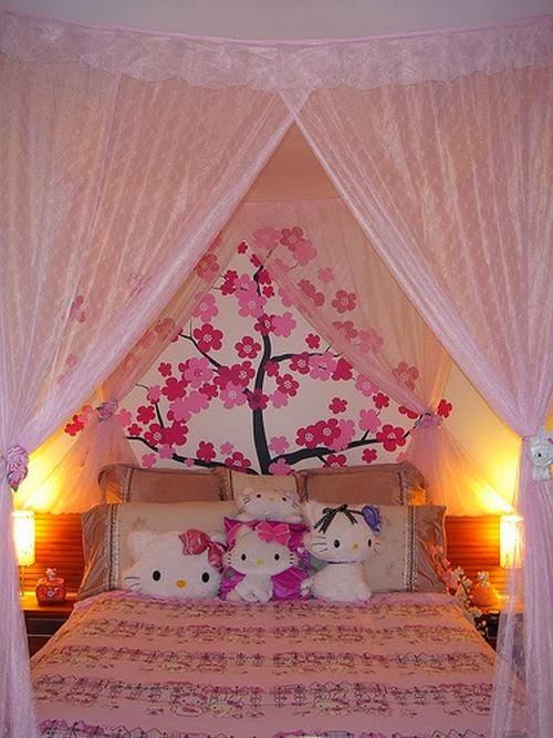Kawaii red decorando seu quarto for Cama kawaii