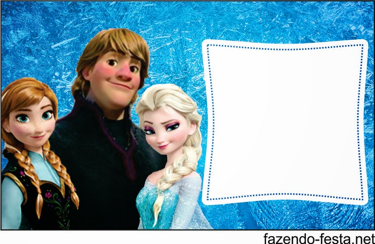 Frozen free printable invitation, card, bunting or candy bar label.