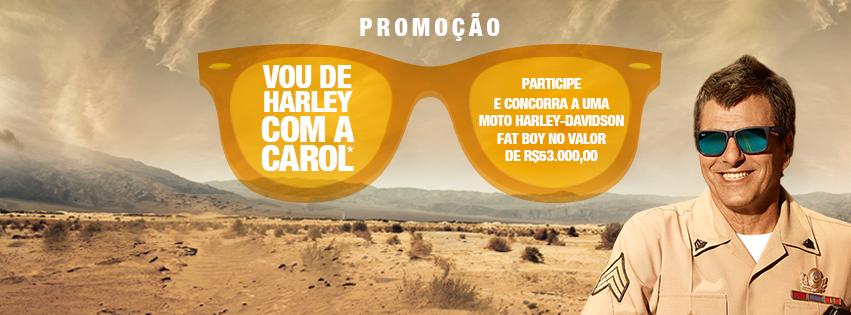 """""""VOU DE HARLEY COM A CAROL"""" - Promoção Óticas Carol"""