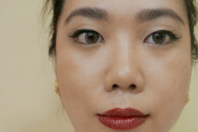 Holiday Glam with Berry Lips and Cat Eye
