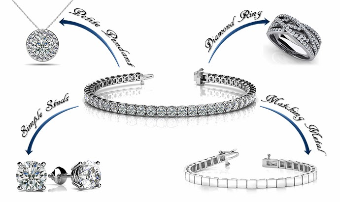 How to pair a diamond tennis bracelet. Anjolee.com