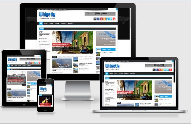 Widgetly Responsive Magazine Blogger Template