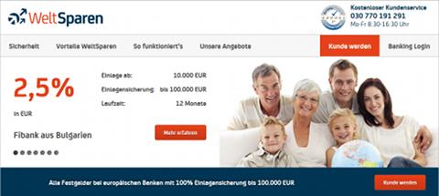 Page d'accueil WeltSparen
