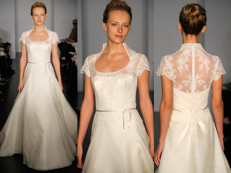 Whimsybride bridal dictionary the queen anne neckline for Queen anne neckline wedding dress