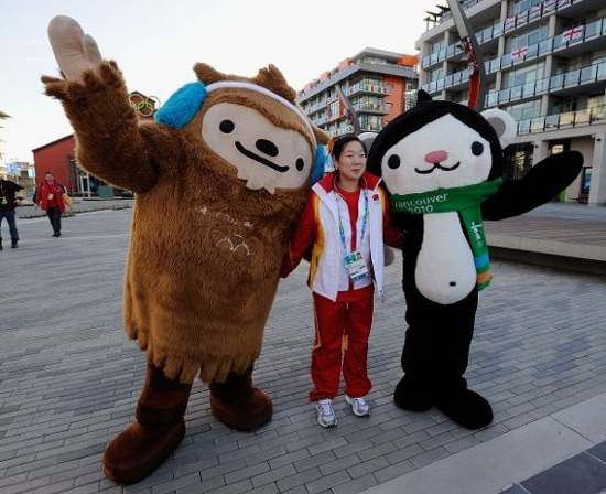 Quatchi, Miga and Mukmuk, mascots for the 2010 Winter Olympics, Vancouver, Canada.