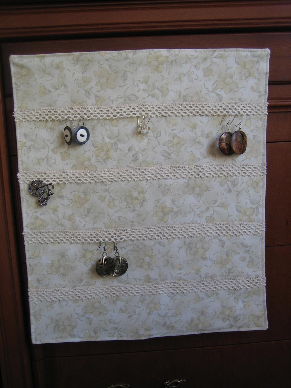 Ana labores tapiz para colgar pendientes - Para colgar pendientes ...