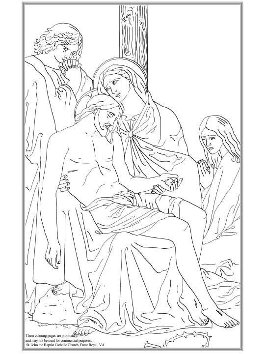 Jesús es bajado de la cruz y entregado a su Madre