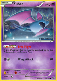Zubat Plasma Storm Pokemon Card