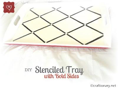 stenciled tray