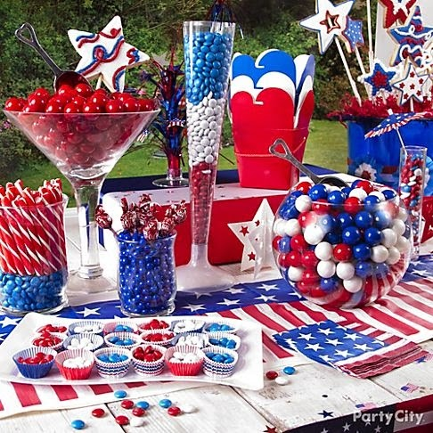 Memorial Day candy  buffet from Party City