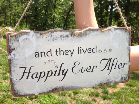 and they lived happily ever after sign, kerriart, etsy.com