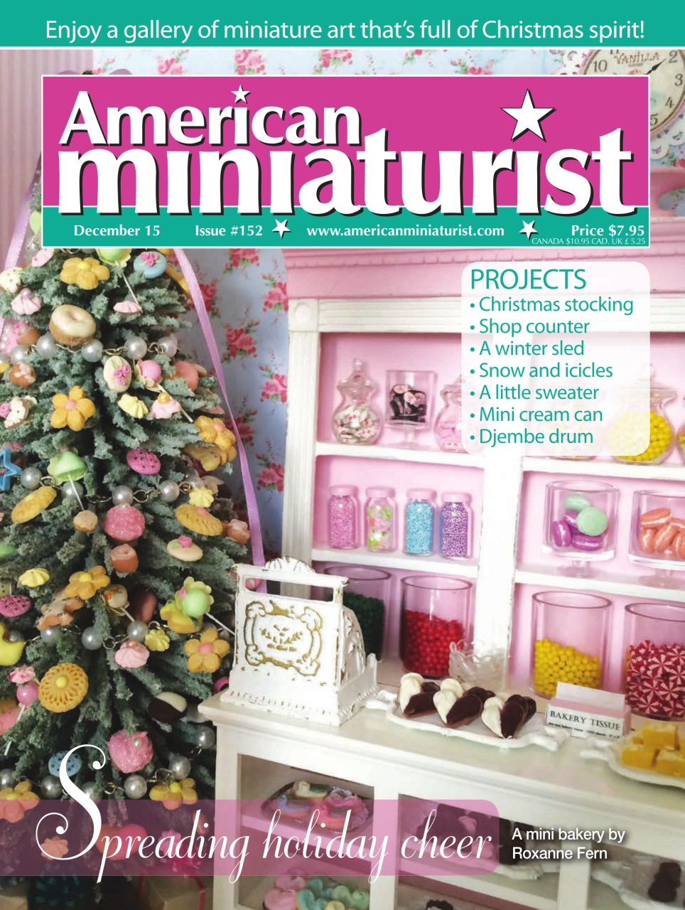 American Miniaturist Magazine December 2015 Issue #152