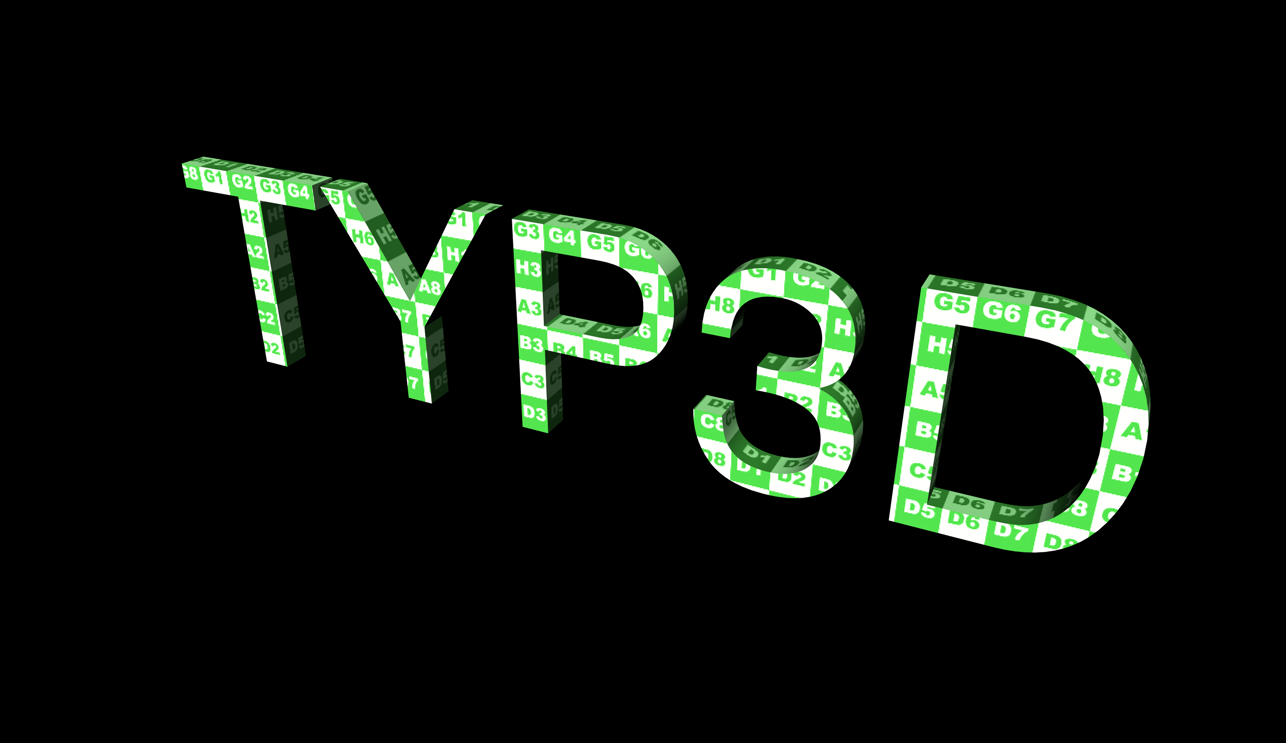 inspirational 3d typography and title design texture mapping cinema 4d texture