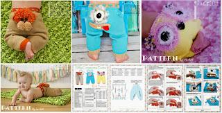 Silly Creatures Knit Pants Pattern Alien Monster Pants Tiger Pants & Owl Pants