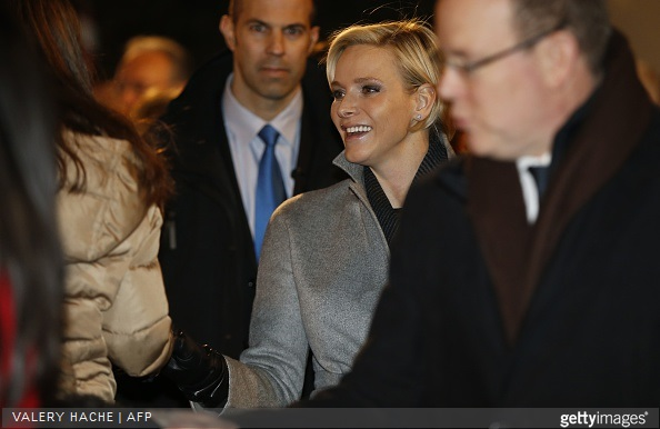 Monaco's Prince Albert II and Princess Charlene attends