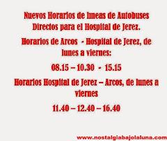 AUTOBUSES DIRECTO AL HOSPITAL DE JEREZ
