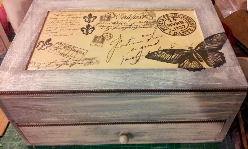 Patoune et gribouille customisation d 39 une boite bijoux - Comment fabriquer une boite a bijoux ...