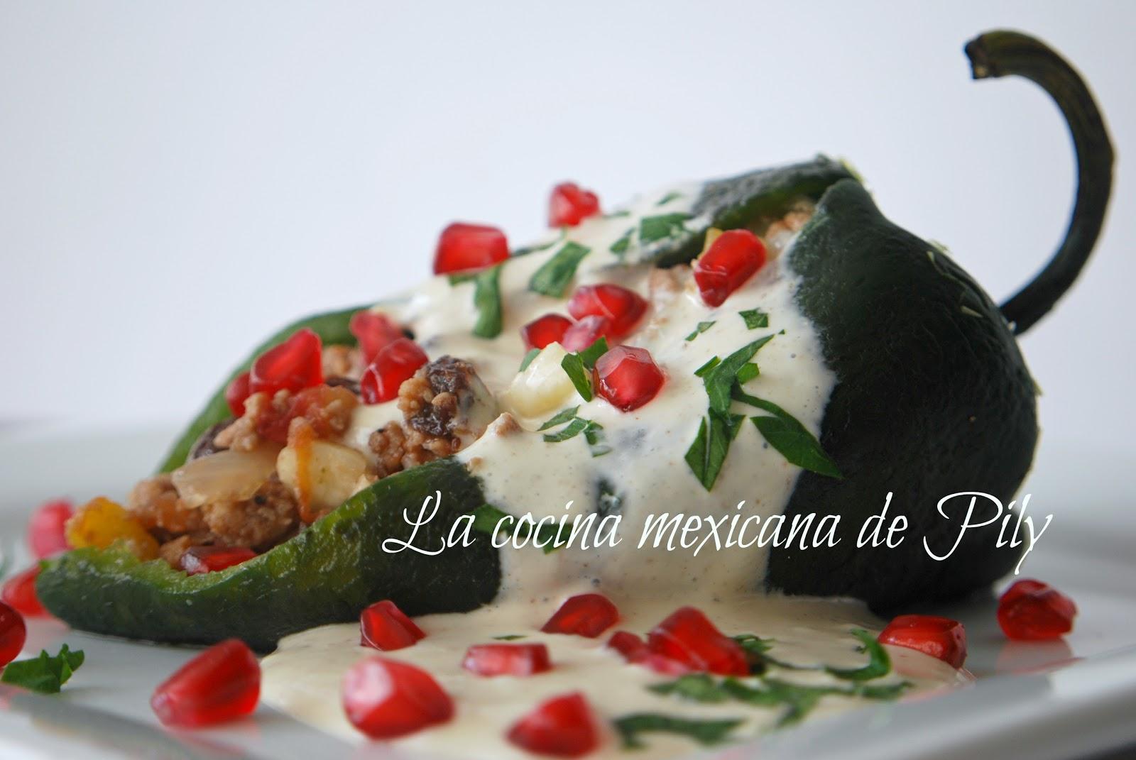 La cocina mexicana de Pily: Chiles en nogada estilo La cocina mexicana ...