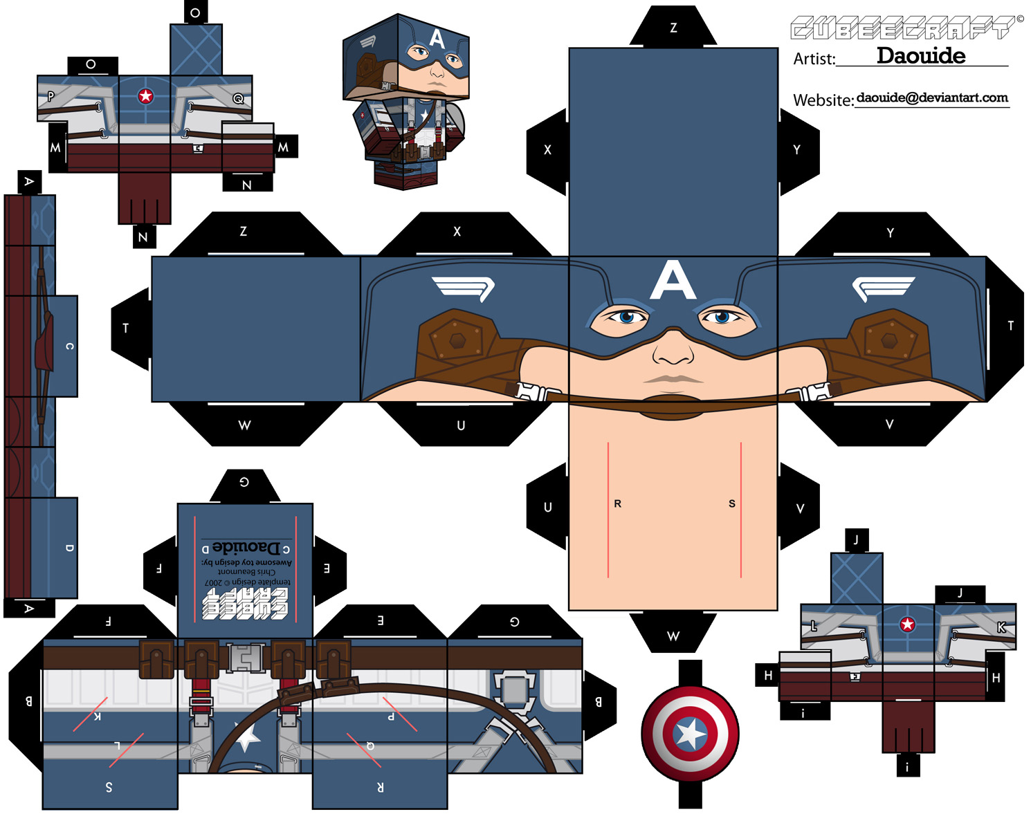 Papercraft Captain America - The Avengers