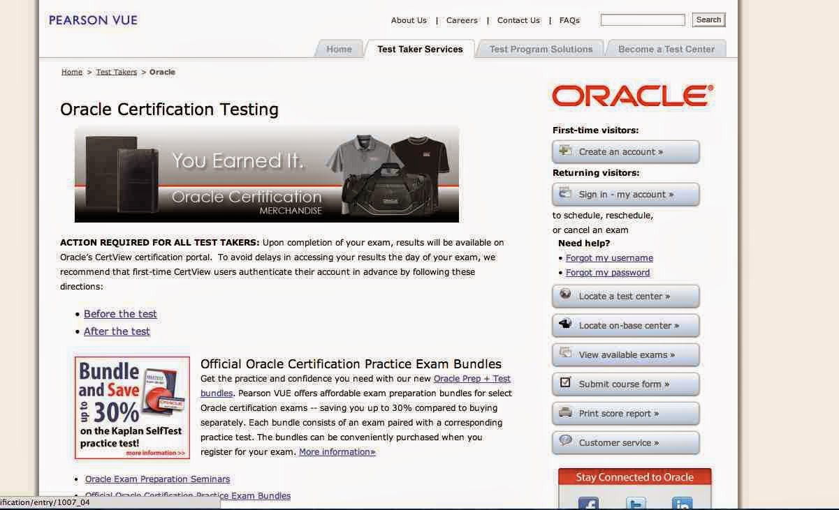 How to Register and Buy Oracle Java Certification Exam (SCJP/OCPJP ...