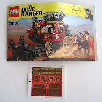 LEGO 79108 Stagecoach Escape stickers