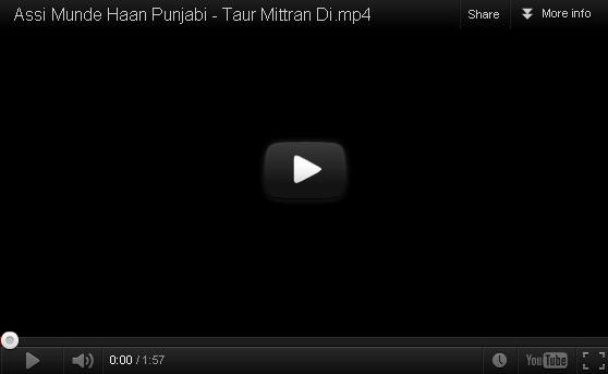 Asi Munde Haan Punjabi Video Free Download -Taur Mitran Di 2012