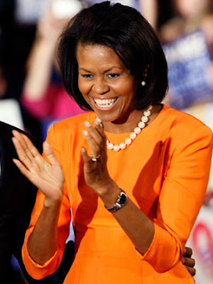 Michelle Obama Glass Beaded Necklace