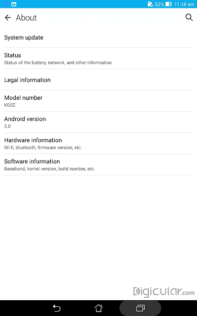 Device info Asus fonepad 7 Lollipop 5.0