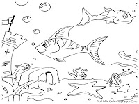 Ocean Life Kids Coloring Pages