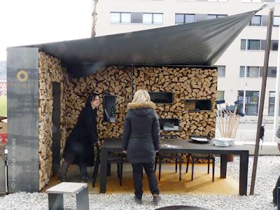 Sichtschutz aus Stahl - Holzlege