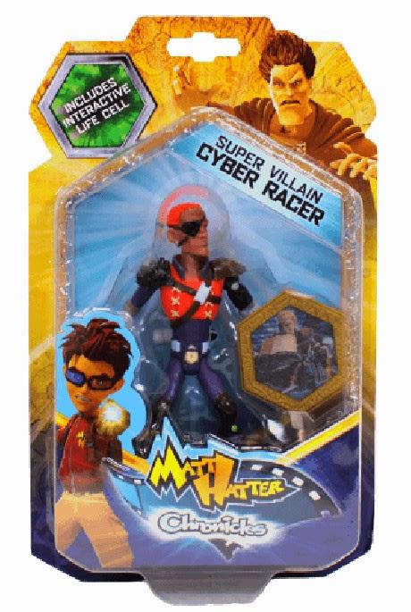 JUGUETES - Matt Hatter Chronicles  Cyber Racer | Silver Raiser | Figura - Muñeco | Super Villanos  Producto Oficial Serie Clan | A partir de 3 años