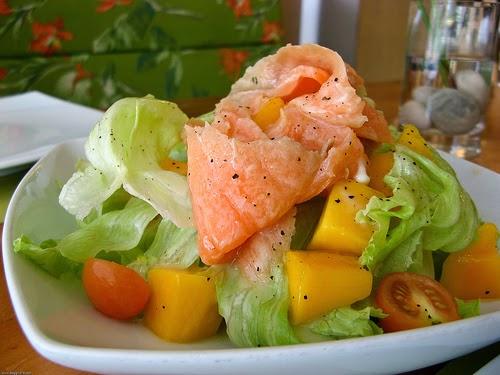 ricetta insalata di salmone