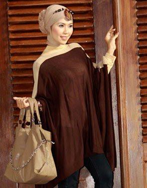 Zenitha Koleksi Cardigan Rajut coklat tua muda