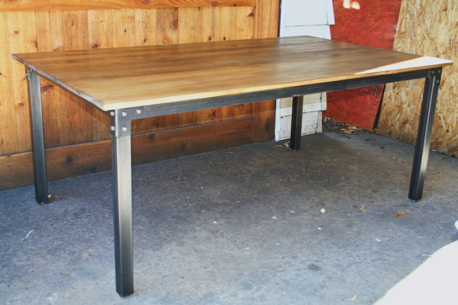 Industrial dining table - Industrial Dining Table Some Quick Orders A Big Dining Table And A Table Base The Customer Will Use With A Granite Top