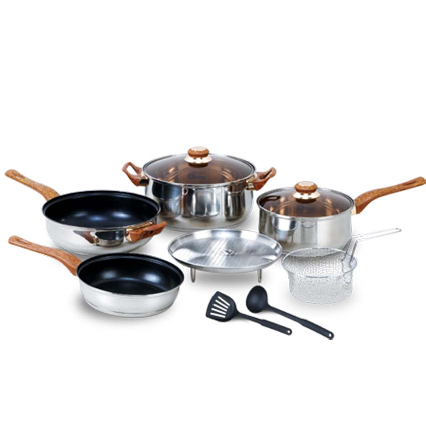 OX-911 Panci BASIC Cookware Set Oxone 4+2Pcs