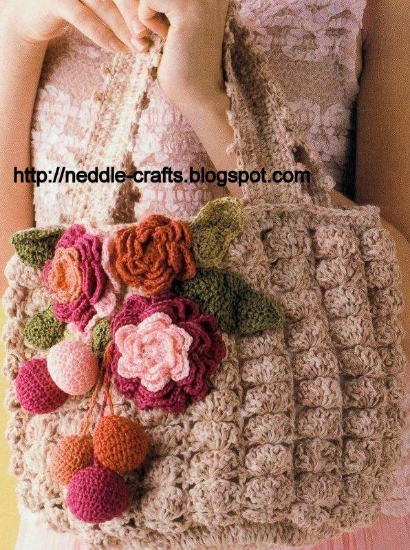 Cria o em arte bolsa de croch - Bolsa para guardar agujas de tejer ...
