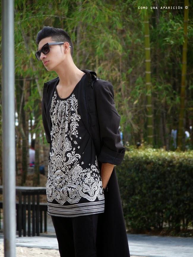 comounaaparicion-streetstyle-colombiamoda-2014-sunglasses-prints-black-menwear