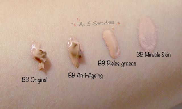 swatches bb creams garnier