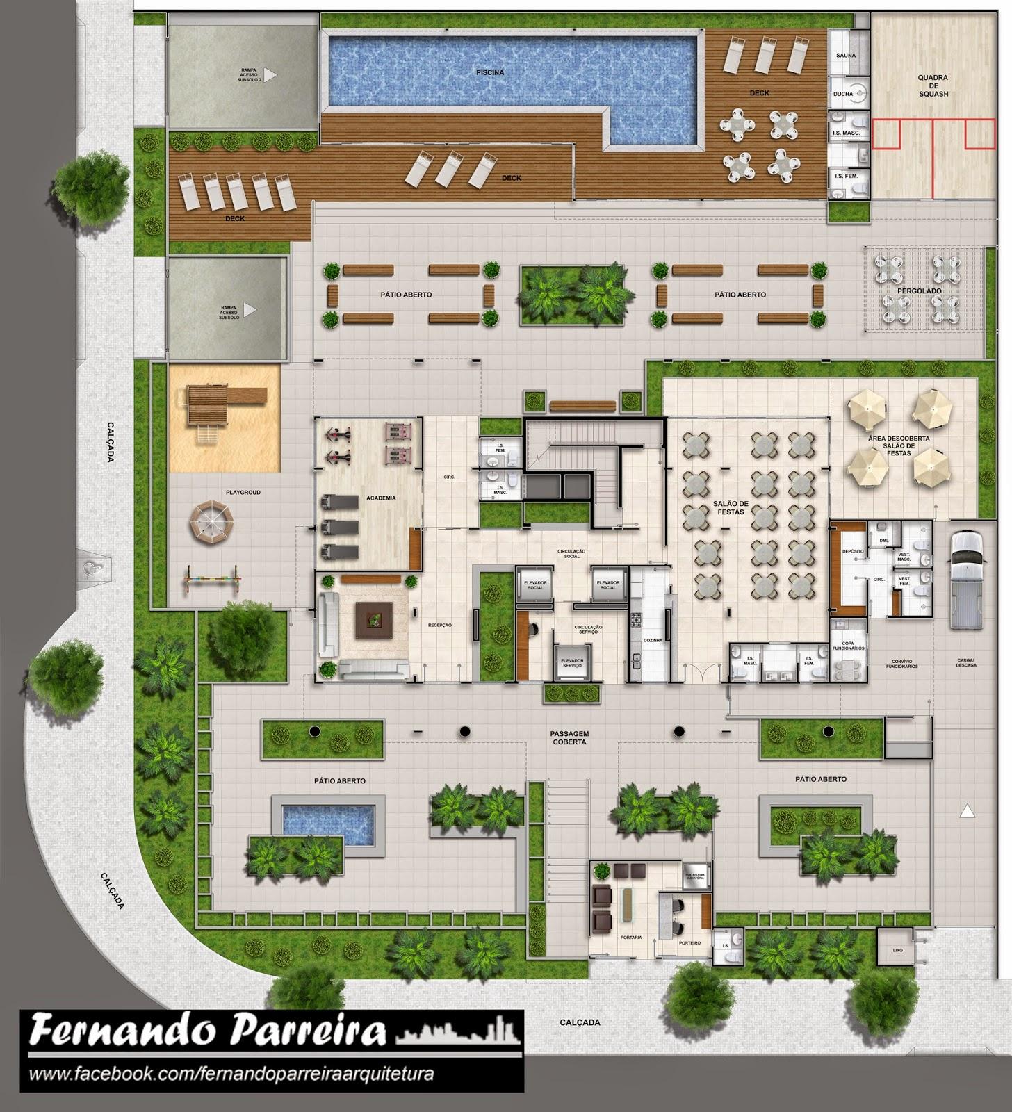 Fabuloso Fernando Parreira: Plantas humanizadas para prédio de alto padrão HH84