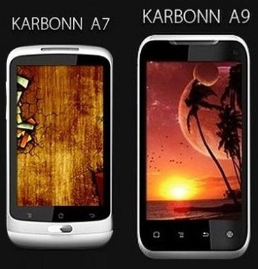 2 Karbonn dual-SIM smartphones (A7 & A9) and tablet coming soon