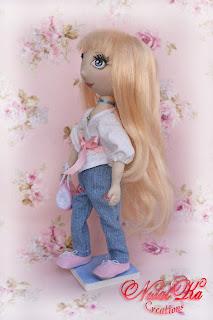 Текстильная кукла Анина.