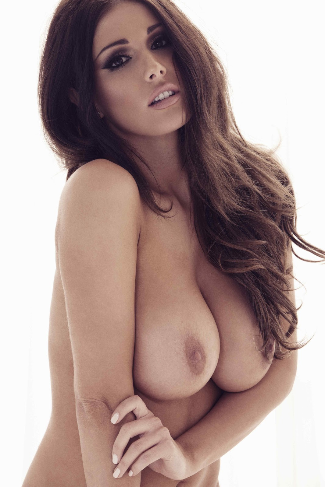 Lucy Pinder Topless And Black Thong
