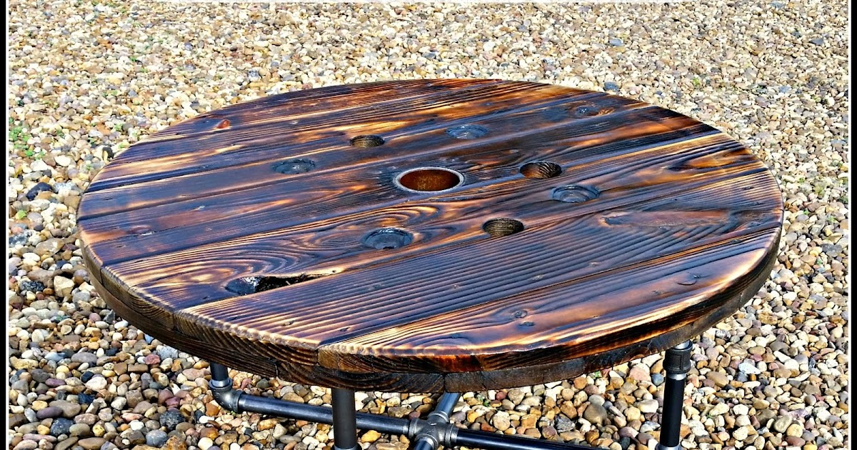 3 Spurz DandC Repurposed /Refurbished Creations!!: Wooden Spool Pipe Leg Coffee  Table DYI