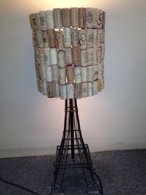 Exotic american la vie savance wine cork art lamp shade exotic american la vie savance aloadofball Choice Image