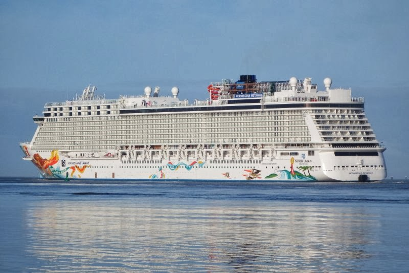 Norwegian Getaway Aerial Photo