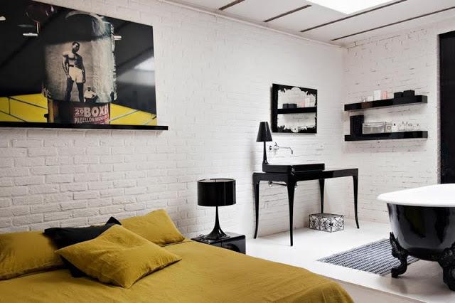 Hermoso loft estilo industrial ideas para decorar - Parete a mattoncini ...