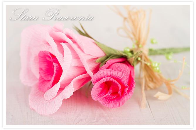 Kwiaty z krepy, róże z krepiny, kwiaty z papieru