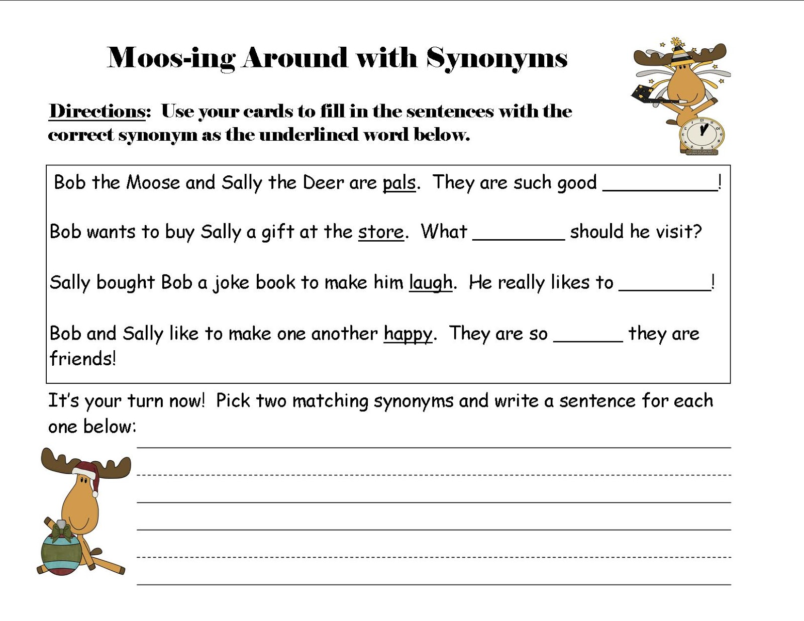 Worksheet Assess Antonym what does the fox read synonyms and antonyms plus a freebie i listed both of these at my stores but for 6 out 10 you can click here moos ing around with quot