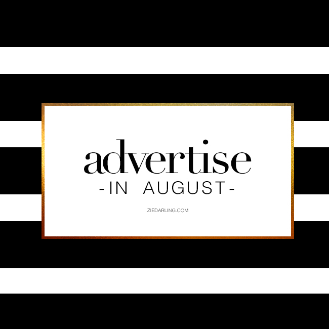 advertise with Darling Dear in August